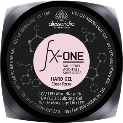 Picture of Alessandro FX-ONE HARD GEL CLEAR ROSE 100 G