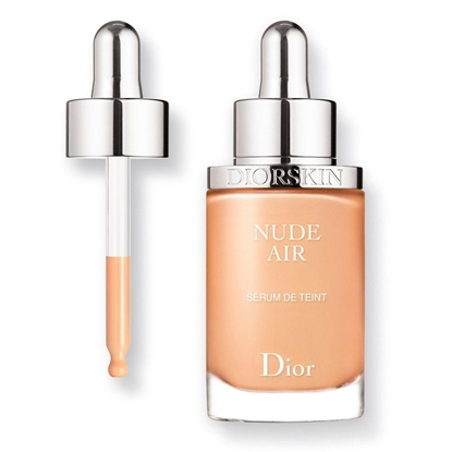 Foto e DIOR Diorskin Nude Air Serum Nude Healthy Glow Ultra-fluid Serum Foundation 020 Light Beige