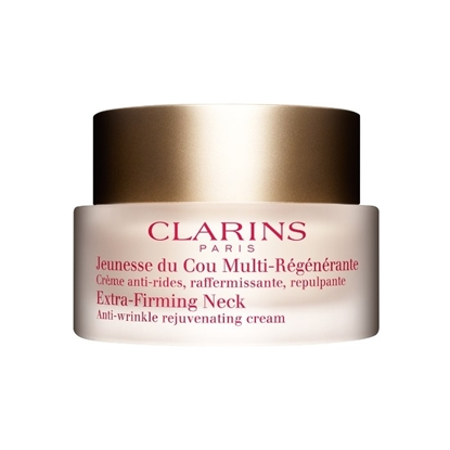 Foto e Clarins Extra-Firming Neck Anti-Wrinkle Rejuvenating Cream, 50 ml